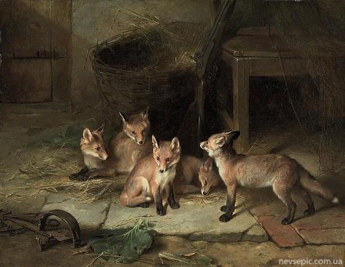 Английский художник Walter Hunt (1861-1941) (38 фото)
