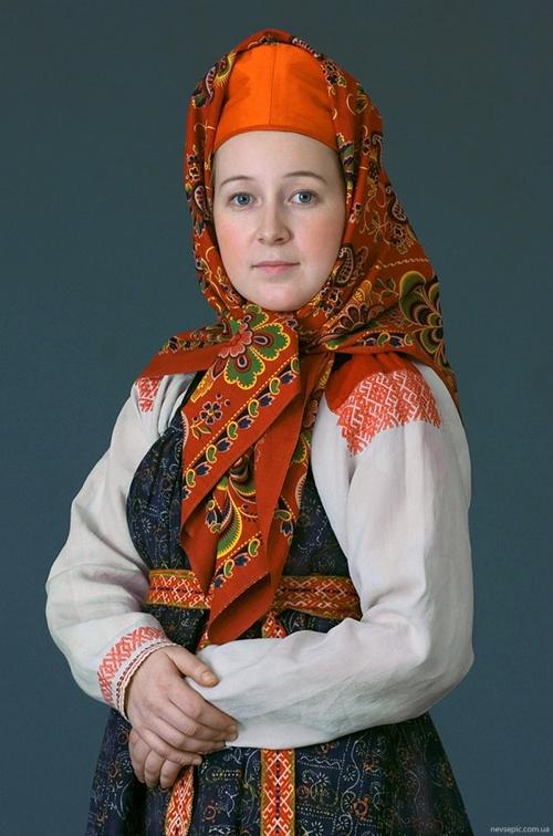 Русский национальный костюм (21 фото)