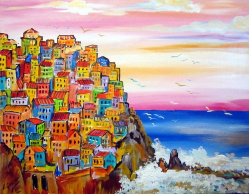 Итальянские деревни и пейзажи. Roberto Gagliardi (20 работ)