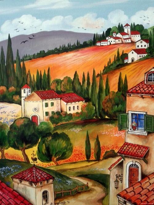 Итальянские деревни и пейзажи. Roberto Gagliardi (20 фото)