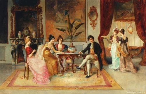Австрийский художник Franz von Persoglia (1852–1912) (15 работ)