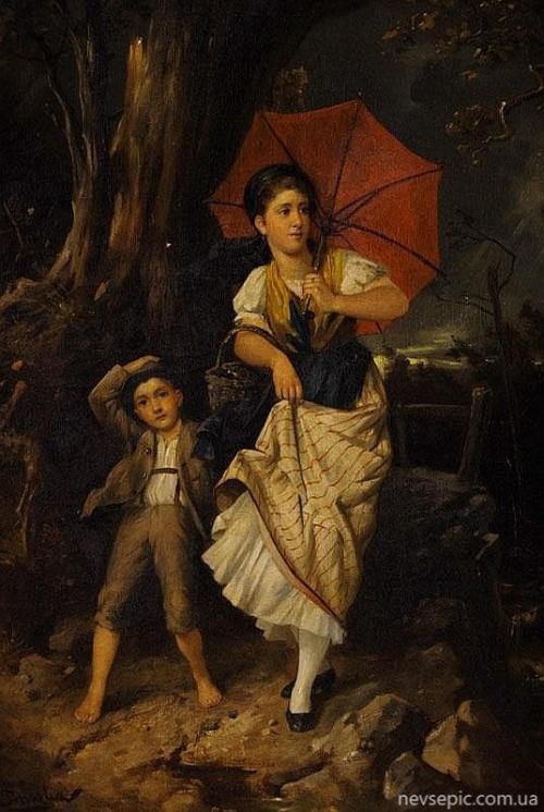 Австрийский художник Franz von Persoglia (1852–1912) (15 фото)