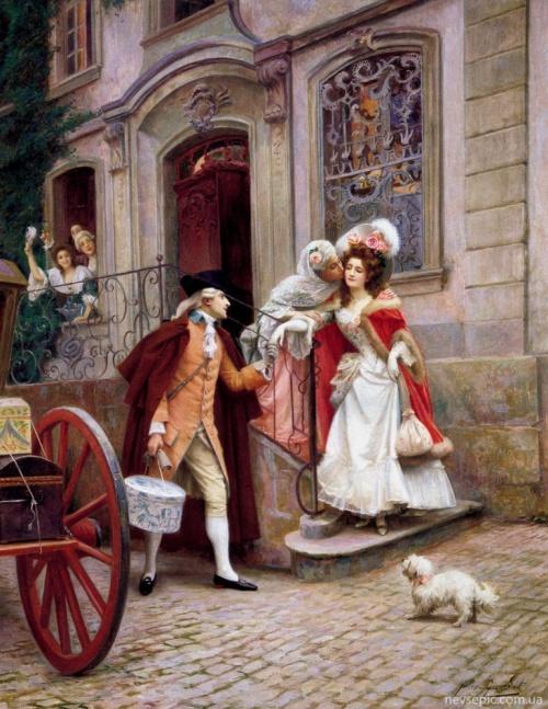 Французский художник Jules Girardet (1856-1938) (работ)