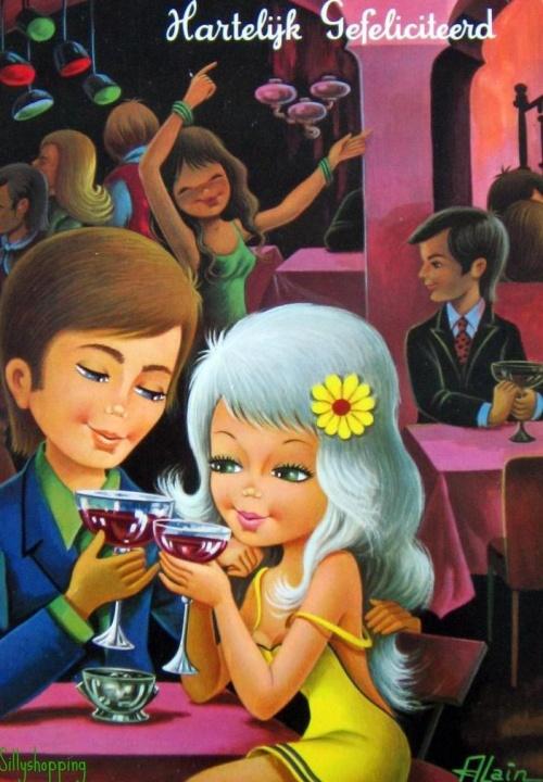 Postcards of the twentieth century - Valentine's Day 5 | Открытки - валентинки ХХ века - День святого Валентина 5 (224 фото)