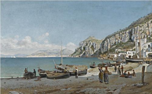 Перуанский художник Federico del Campo (1837 - 1927) (36 работ)