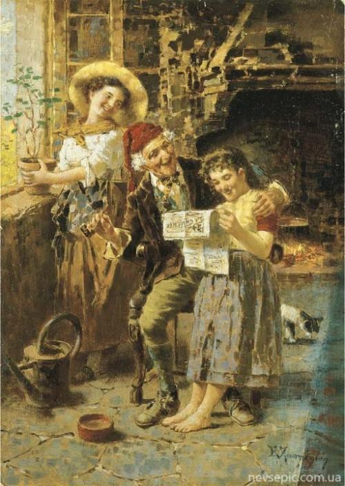 Итальянский художник Eugenio Zampighi (1859-1944)