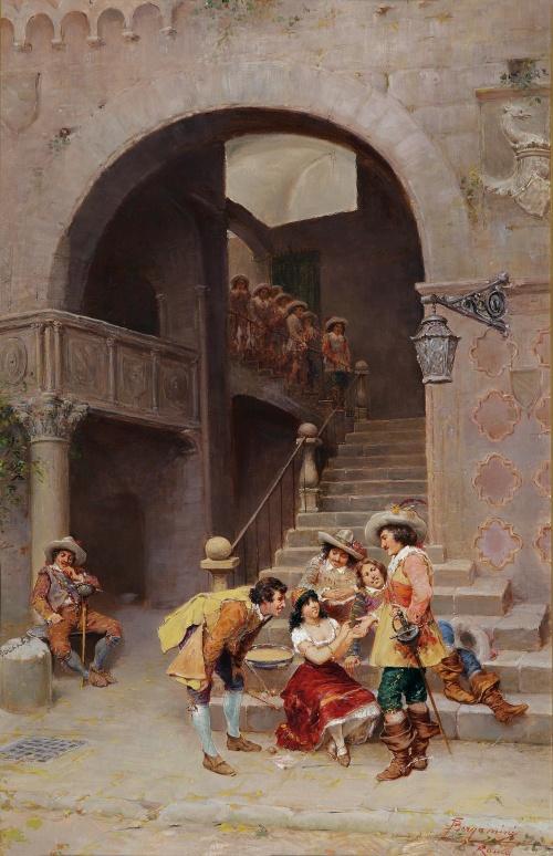 Итальянский художник Francesco Bergamini (Italian, 1815-1883) (18 работ)