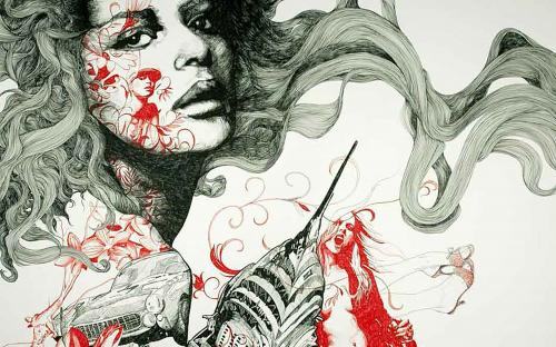 Графический рисунок - Moreno Gabriel (30 фото)