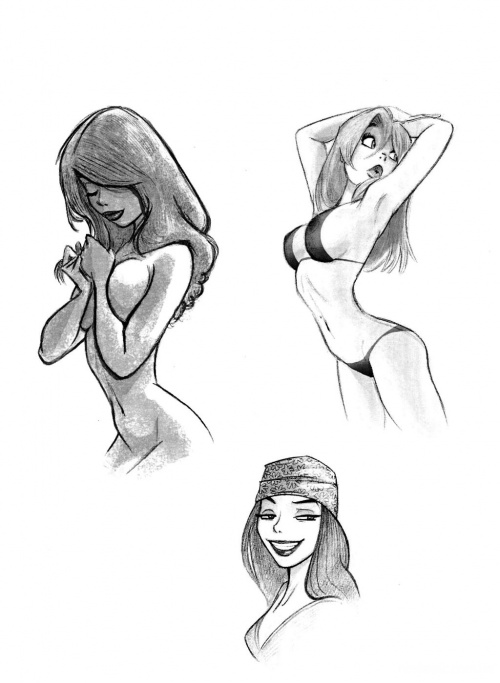 Scribblings Dean Yeagle Sketchbook (50 фото)