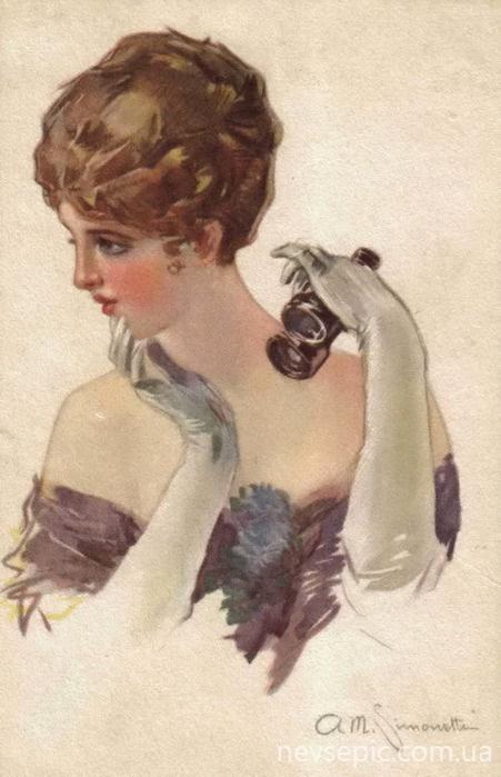 Итальянский художник Amadeo Simonetti (1874-1922) (40 работ)