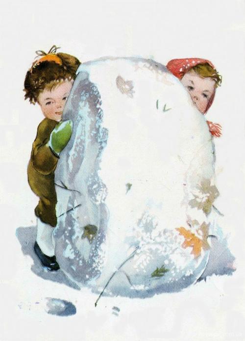 New Year Card   Новогодняя открытка. Любимые художники детства поздравляют с Новым годом (48 фото)