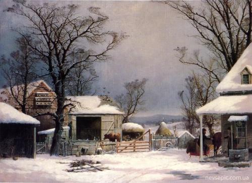 Американский художник George Henry Durrie (1820-1863) (55 работ)