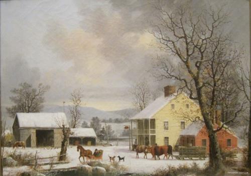 Американский художник George Henry Durrie (1820-1863) (55 фото)