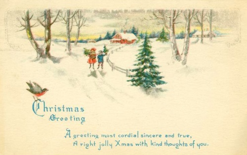 Christmas and New Year 2 - old postcards XX century | Рождество и Новый год 2 - Открытки ХХ века (399 фото)