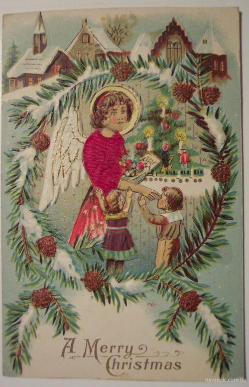 Christmas and New Year 2 - old postcards XX century   Рождество и Новый год 2 - Открытки ХХ века (399 фото)