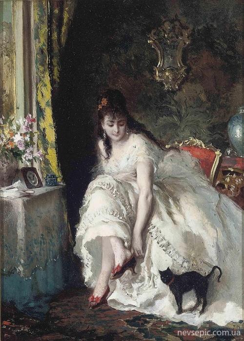 Итальянский художник Lucius Rossi (1846-1913) (67 работ)