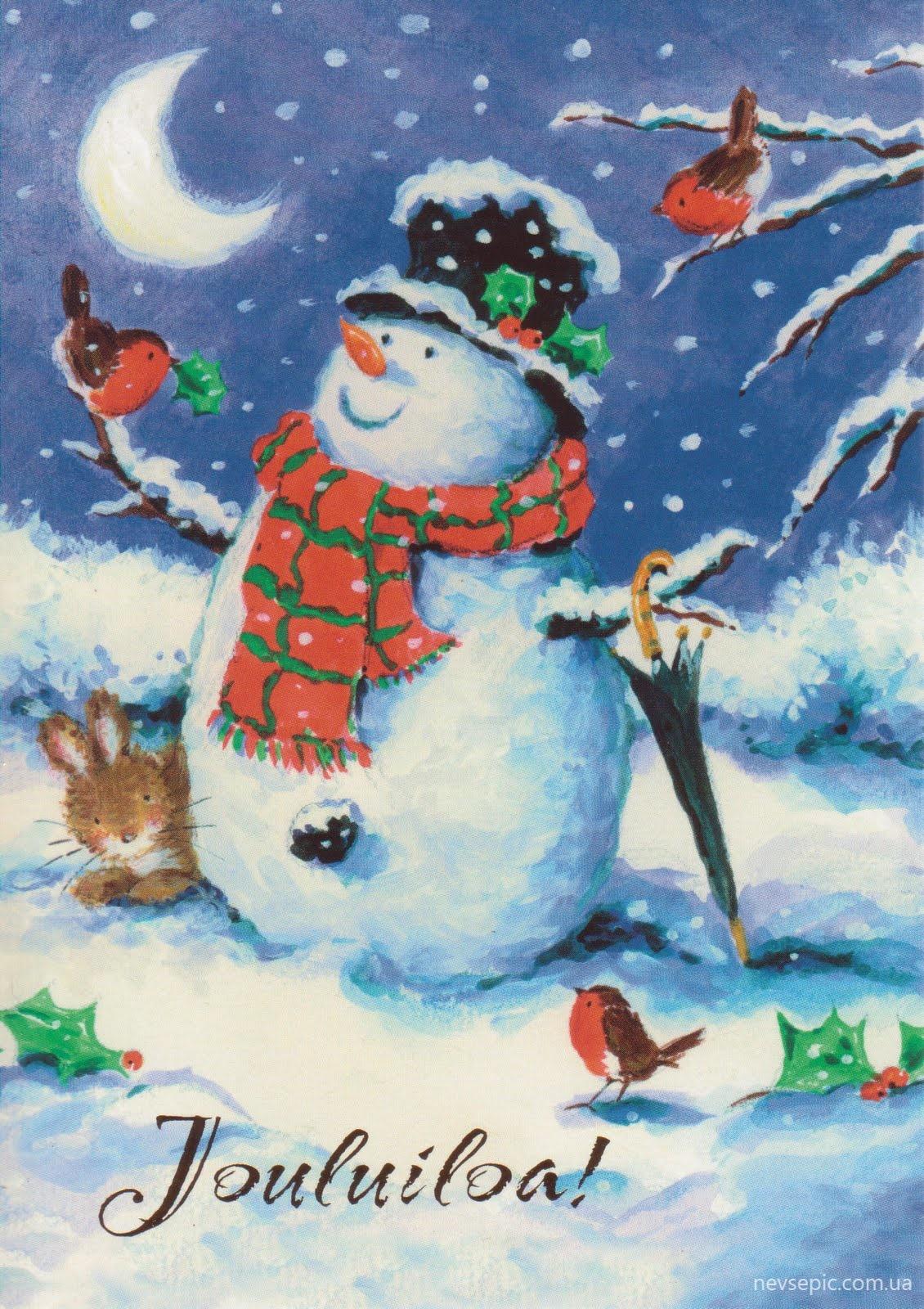 Новогодние открытки по рисованию