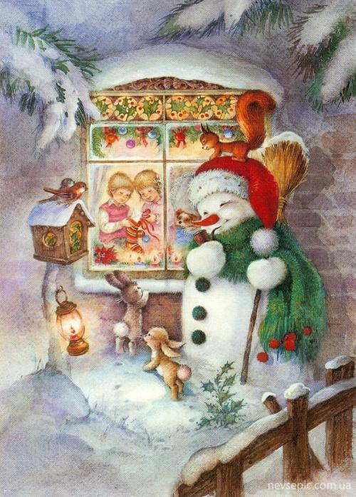 Christmas and New Year 1 - old postcards XX century | Рождество и Новый год 1 - Открытки ХХ века (250 фото)