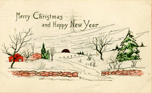 Christmas and New Year 1 - old postcards XX century | Рождество и Новый год 1 - Открытки ХХ века (250 фото)