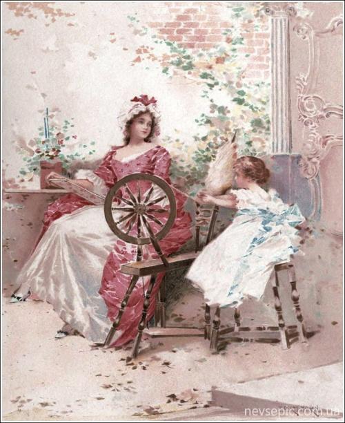 Американский художник и иллюстратор Edward Percy Moran (1862 – 1935) (68 фото)