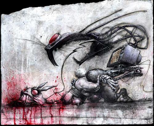 Графический рисунок - Джонатан Вайчек (38 фото)